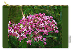 Rose Milkweed Carry-all Pouch by William Tanneberger