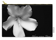 Rose Of Sharon Hibiscus Bw Carry-all Pouch by Tony Grider