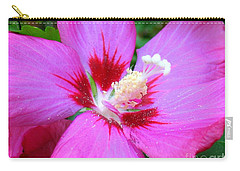 Carry-all Pouch featuring the photograph Rose Of Sharon Hibiscus by Patti Whitten