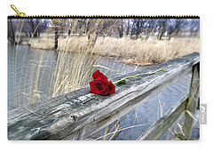 Carry-all Pouch featuring the photograph Rose On A Bridge by Verana Stark