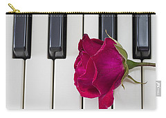 Rose Over Piano Keys Carry-all Pouch