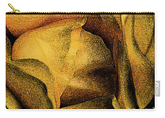 Carry-all Pouch featuring the photograph Rose Yellow Fresco by Jean OKeeffe Macro Abundance Art