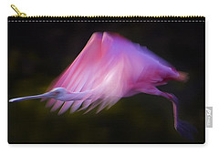 Carry-all Pouch featuring the photograph Roseate Spoonbill  #6205 by J L Woody Wooden