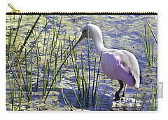 Roseate Spoonbill IIi Carry-all Pouch by Susan Molnar