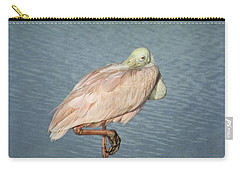 Roseate Spoonbill Carry-all Pouch by Kim Hojnacki