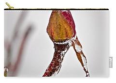 Rosebud Frozen In Ice Art Prints Carry-all Pouch