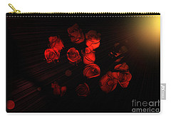 Roses And Black Carry-all Pouch by Oksana Semenchenko