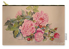 Carry-all Pouch featuring the painting Roses And More Roses by Beatrice Cloake