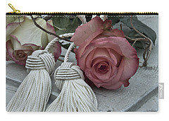 Carry-all Pouch featuring the photograph Roses And Tassels by Sandra Foster