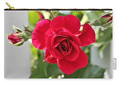 Carry-all Pouch featuring the photograph Roses Are Red by Joann Copeland-Paul