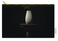 Carry-all Pouch featuring the digital art Roses For Sk... by Tim Fillingim
