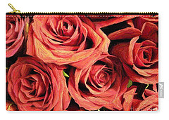 Roses For Your Wall  Carry-all Pouch by Joseph Baril