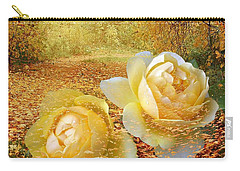 Roses In The Woods In Autumn Carry-all Pouch