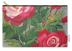 Roses N' Rain Carry-all Pouch