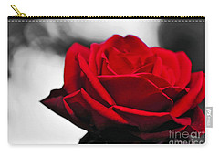 Rosey Red Carry-all Pouch by Kaye Menner