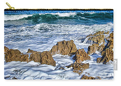 Carry-all Pouch featuring the photograph Ross Witham Beach Stuart Florida by Olga Hamilton