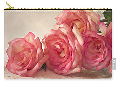Carry-all Pouch featuring the photograph Rosy Elegance Digital Watercolor by Sandra Foster
