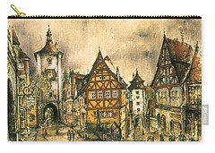 Rothenburg Bavaria Germany - Romantic Watercolor Carry-all Pouch