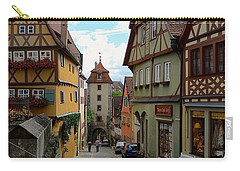 Rothenburg Ob Der Tauber Carry-all Pouch by Corinne Rhode