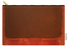 Rothko's Mulberry And Brown Carry-all Pouch