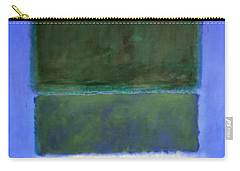 Rothko's No. 14 -- White And Greens In Blue Carry-all Pouch