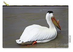 Carry-all Pouch featuring the photograph Rough Billed Pelican by Alyce Taylor