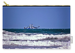 Carry-all Pouch featuring the photograph Rough Seas Shrimping by DigiArt Diaries by Vicky B Fuller