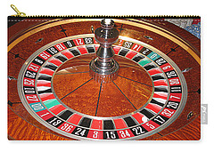 Roulette Wheel And Chips Carry-all Pouch