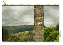 Round Tower At Glendalough Carry-all Pouch by Jeff Kolker