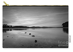 Round Valley At Dawn Bw Carry-all Pouch by Michael Ver Sprill
