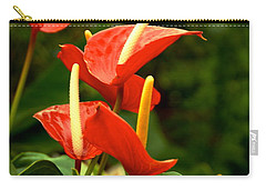 Carry-all Pouch featuring the photograph Rousing Reds by Dee Dee  Whittle