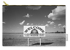 Route 66 - Midpoint Sign Carry-all Pouch by Frank Romeo