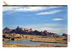 Carry-all Pouch featuring the photograph Route 66 Needles Mtn Range Two  Sold by Antonia Citrino