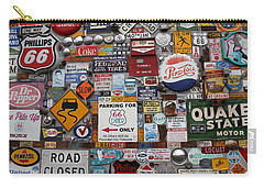 Route 66 Signs Carry-all Pouch by Lynn Sprowl