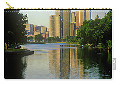 Rower On Chicago River With Skyline Carry-all Pouch