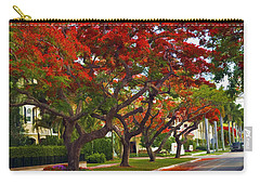Royal Poinciana Trees In Blooming In South Florida Carry-all Pouch