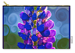 Royal Purple Lupine Flower Abstract Art Carry-all Pouch