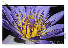 Royal Purple Water Lily #5 Carry-all Pouch by Judy Whitton
