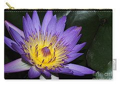 Royal Purple Water Lily #6 Carry-all Pouch