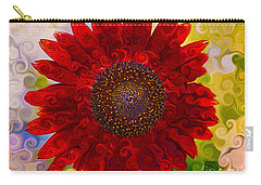 Royal Red Sunflower Carry-all Pouch