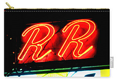 Carry-all Pouch featuring the painting RR by Luis Ludzska