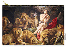 Carry-all Pouch featuring the photograph Rubens' Daniel In The Lions' Den by Cora Wandel