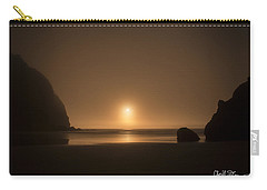Ruby Beach Sunset Carry-all Pouch by Charlie Duncan
