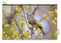 Carry-all Pouch featuring the photograph Ruby-crowned Kinglet by Kerri Farley
