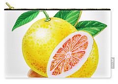 Ruby Red Grapefruit Carry-all Pouch by Irina Sztukowski