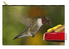Ruby-throat Hummer Sipping Carry-all Pouch