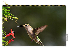 Ruby Throat Hummingbird Carry-all Pouch