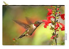 Ruby Throat Hummingbird Photo Carry-all Pouch by Luana K Perez