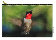 Ruby Throated Hummingbird Carry-all Pouch by Lizi Beard-Ward