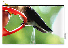 Ruby-throated Hummingbird Pooping Carry-all Pouch